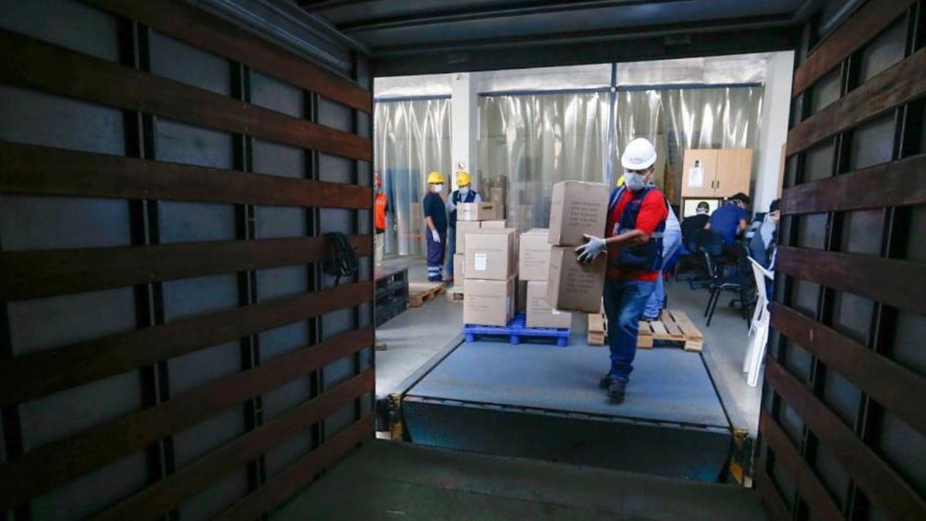Coronavirus: Minsa distribuye más de 34 toneladas de suministros médicos a Lima y regiones. Foto: ANDINA/Difusión.