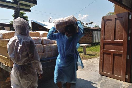Loreto: Qali Warma entrega 74 t de alimentos a 37 comunidades indígenas en Manseriche