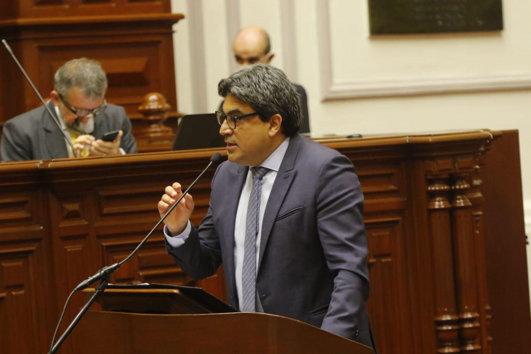 Se inició la sesión de interpelación al ministro de educación, Martín Benavides. Foto: Congreso de la República