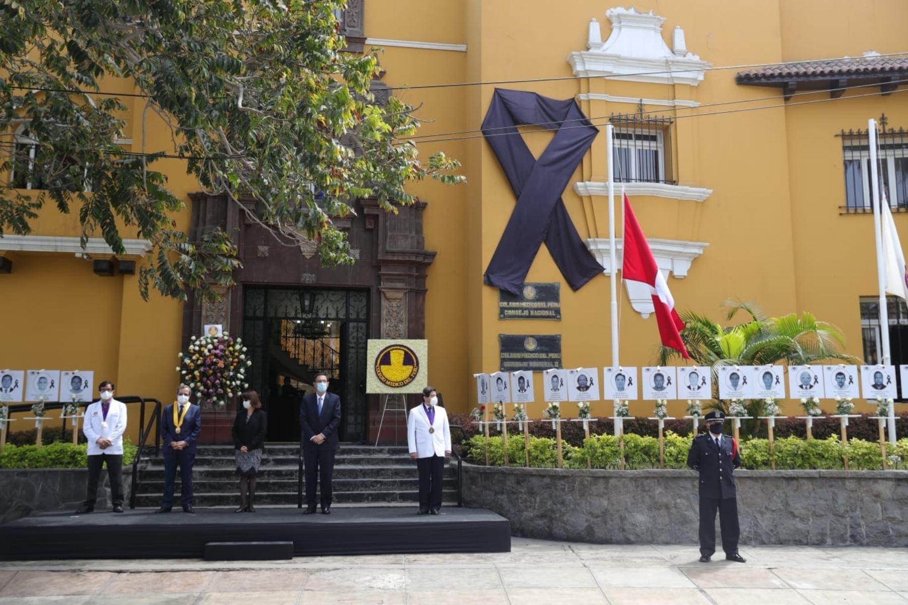 Presidente Vizcarra participa en homenaje a médicos fallecidos por el covid-19 | Noticias | Agencia Peruana de Noticias Andina