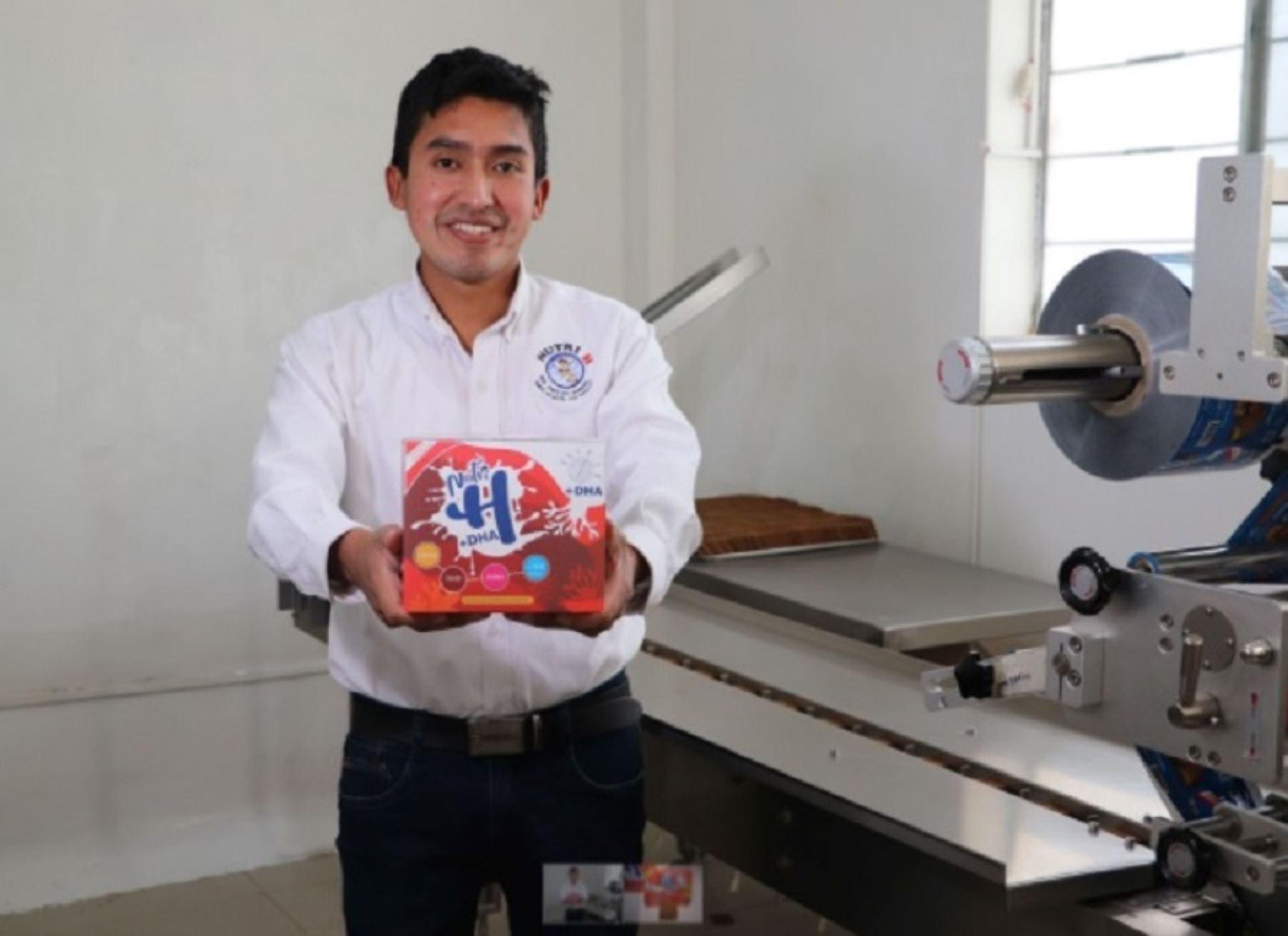 Julio Garay, creador ayacuchano de galletas contra la anemia lanza nuevas Nutri H reforzadas con DHA