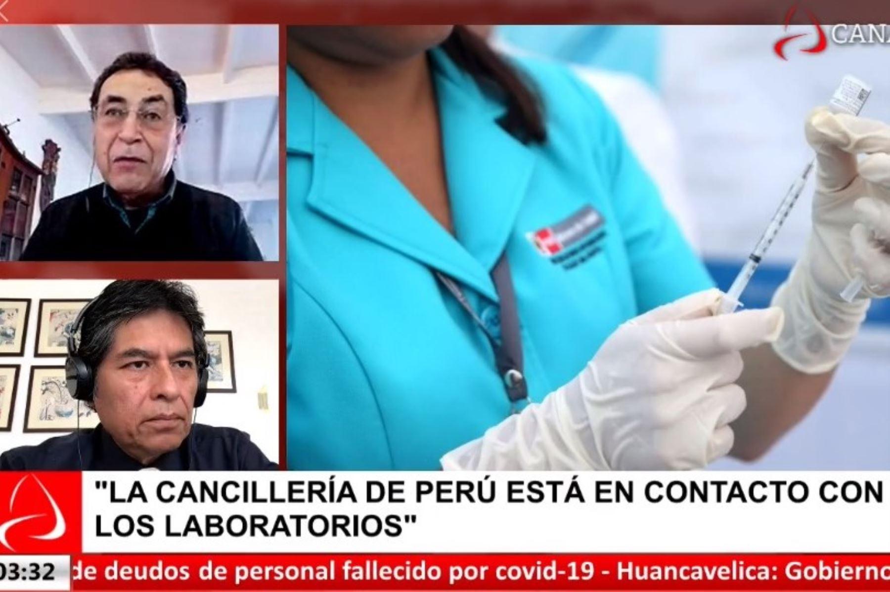 Médico epidemiólogo Raúl Montesano, asesor de Inmunizaciones de la Organización Panamericana de la Salud (OPS), en Andina al Día.