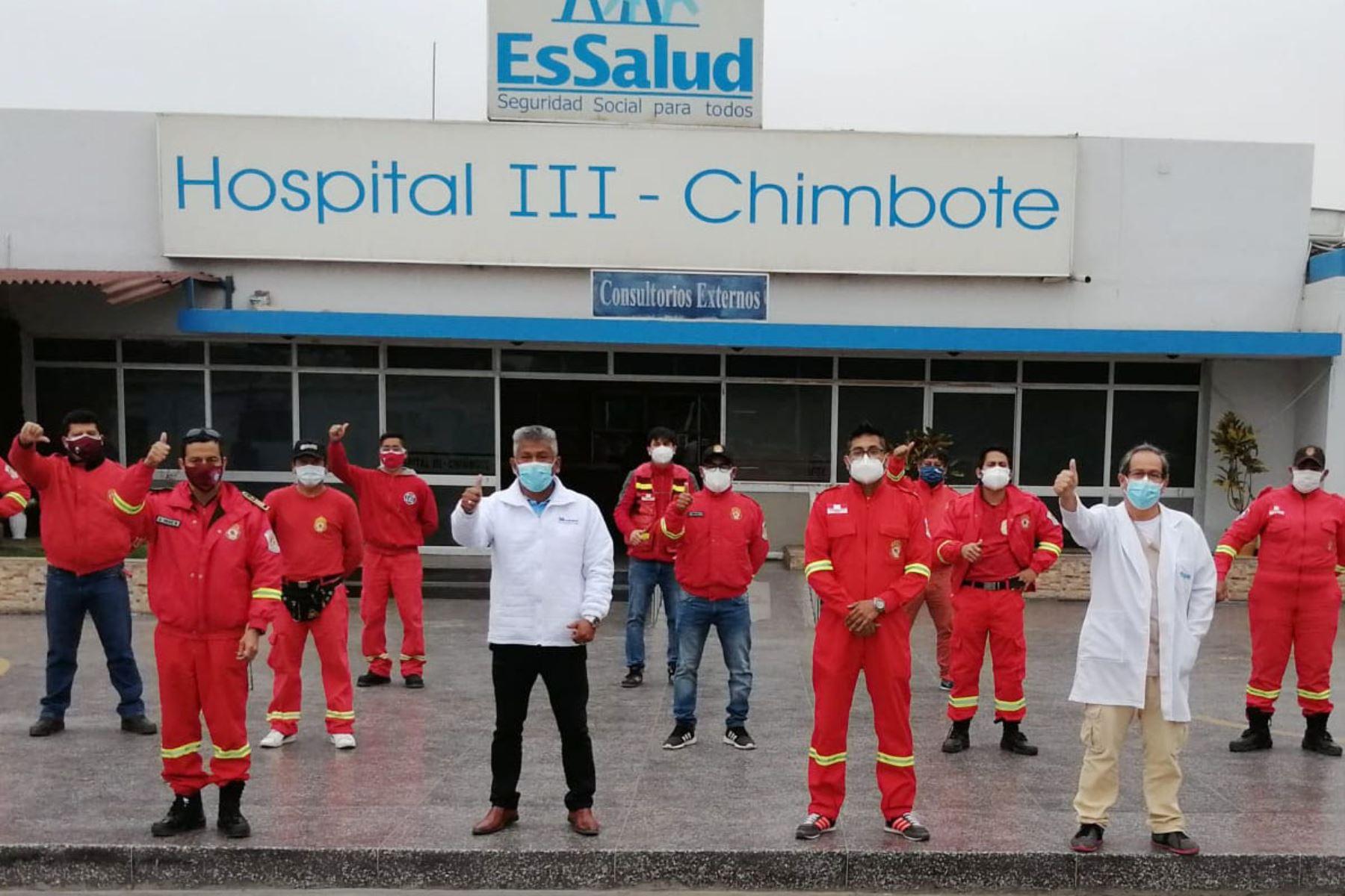 Las pruebas moleculares fueron aplicaron a 35 hombres de rojo del Santa (Áncash) y los resultados se tendrán en cinco días. Foto: ANDINA/Difusión
