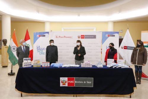 Ministerio de Salud recibe donación de la embajadada de la India en el Perú para fortalecer la lucha contra el covid -19