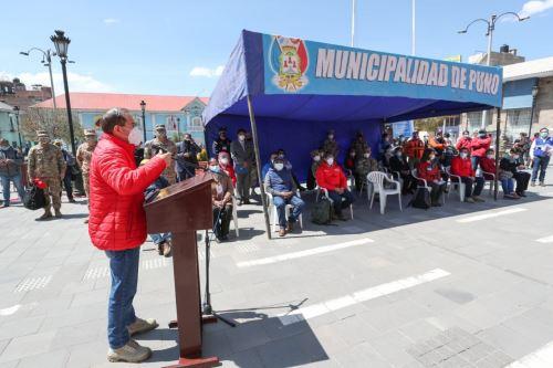 Coronavirus: Jefe del Gabinete y ministros de Estado participan en lanzamiento de megaoperación TAYTA en Puno