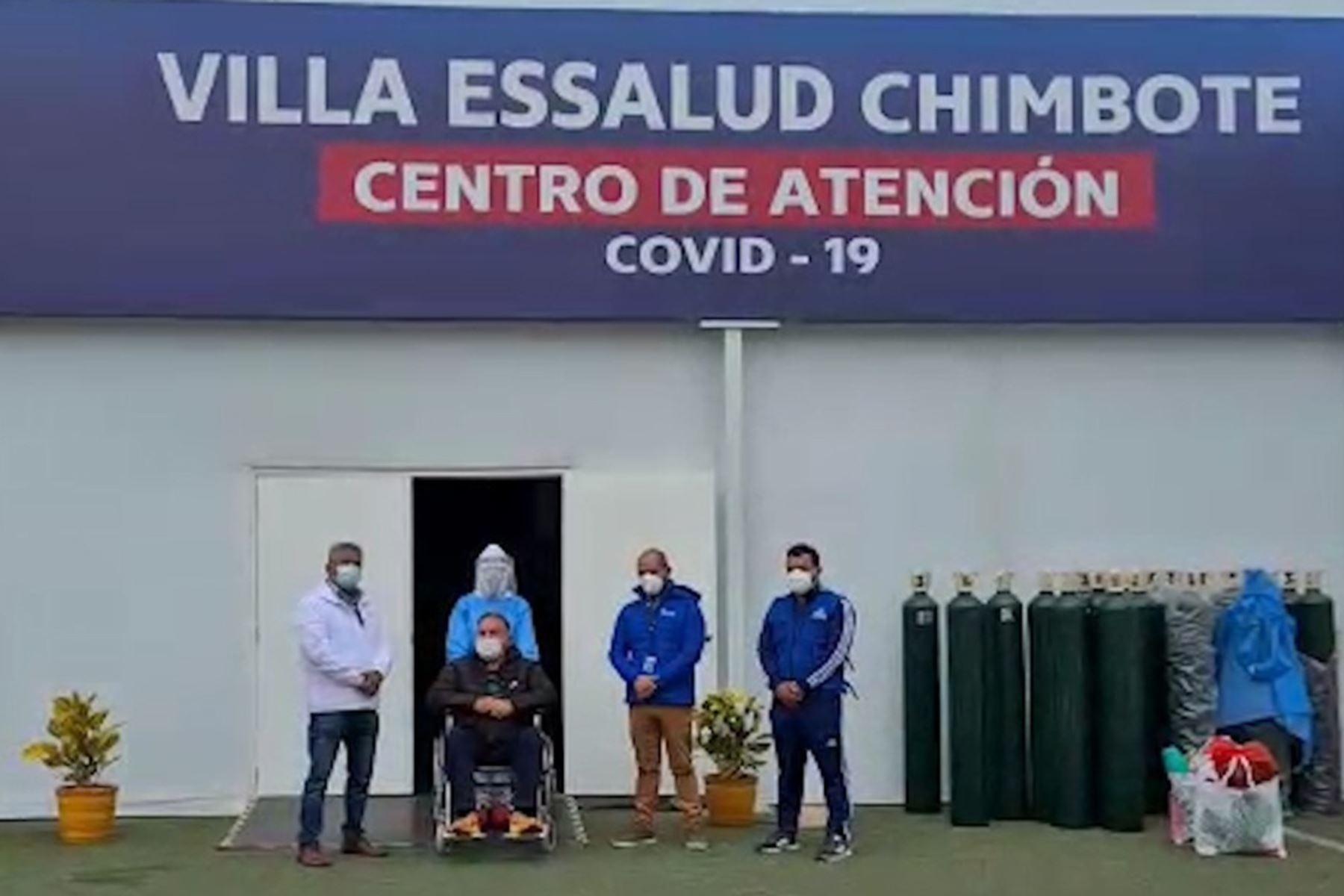La Villa EsSalud Chimbote, en la región Áncash, ya cuenta con 164 historias de éxito en su lucha contra el covid-19. Foto: ANDINA/Difusión