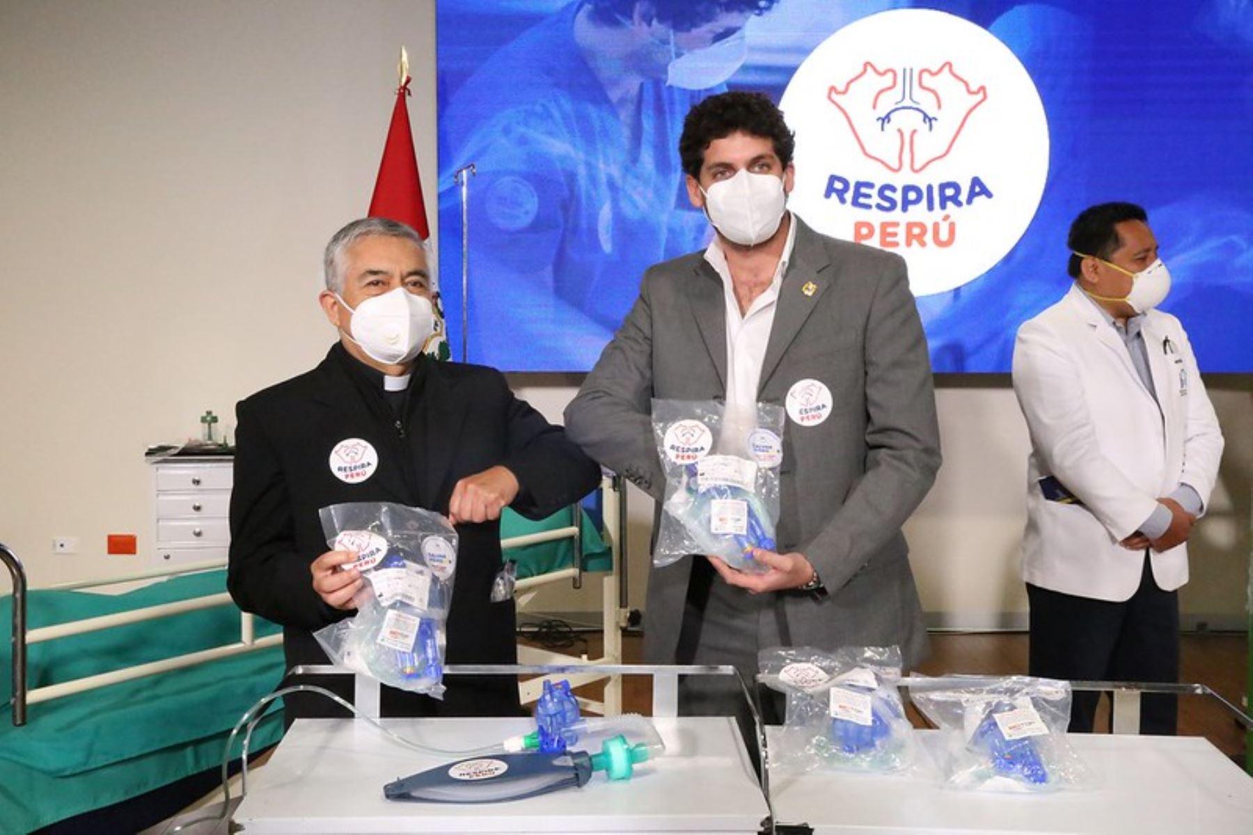 Coronavirus: Respira Perú dona 2,000 ventiladores mecánicos para ayudar a pacientes. Foto: ANDINA/Difusión.