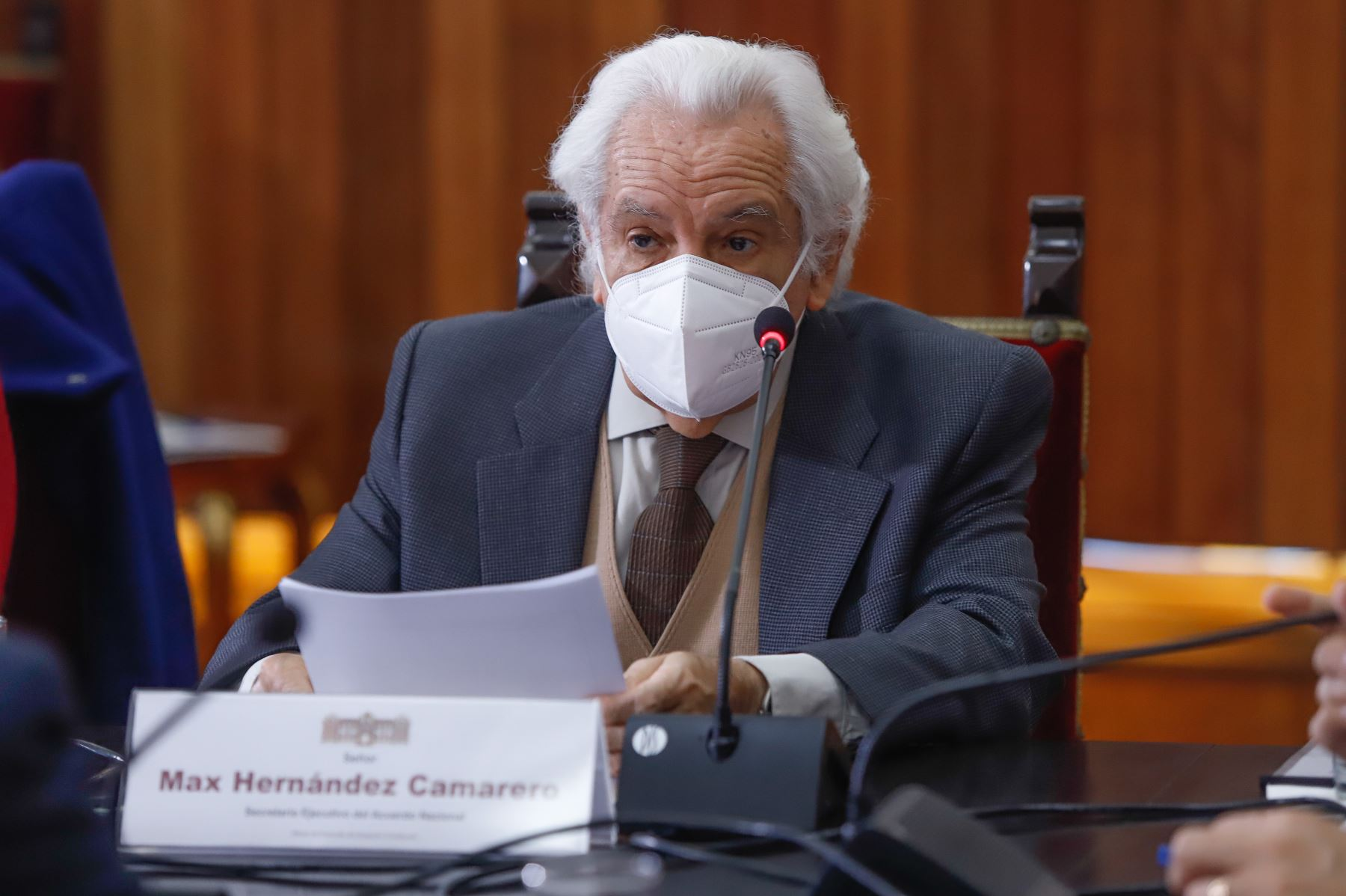 Secretario ejecutivo del Acuerdo Nacional, Max Hernandez. Foto: ANDINA/Prensa Presidencia