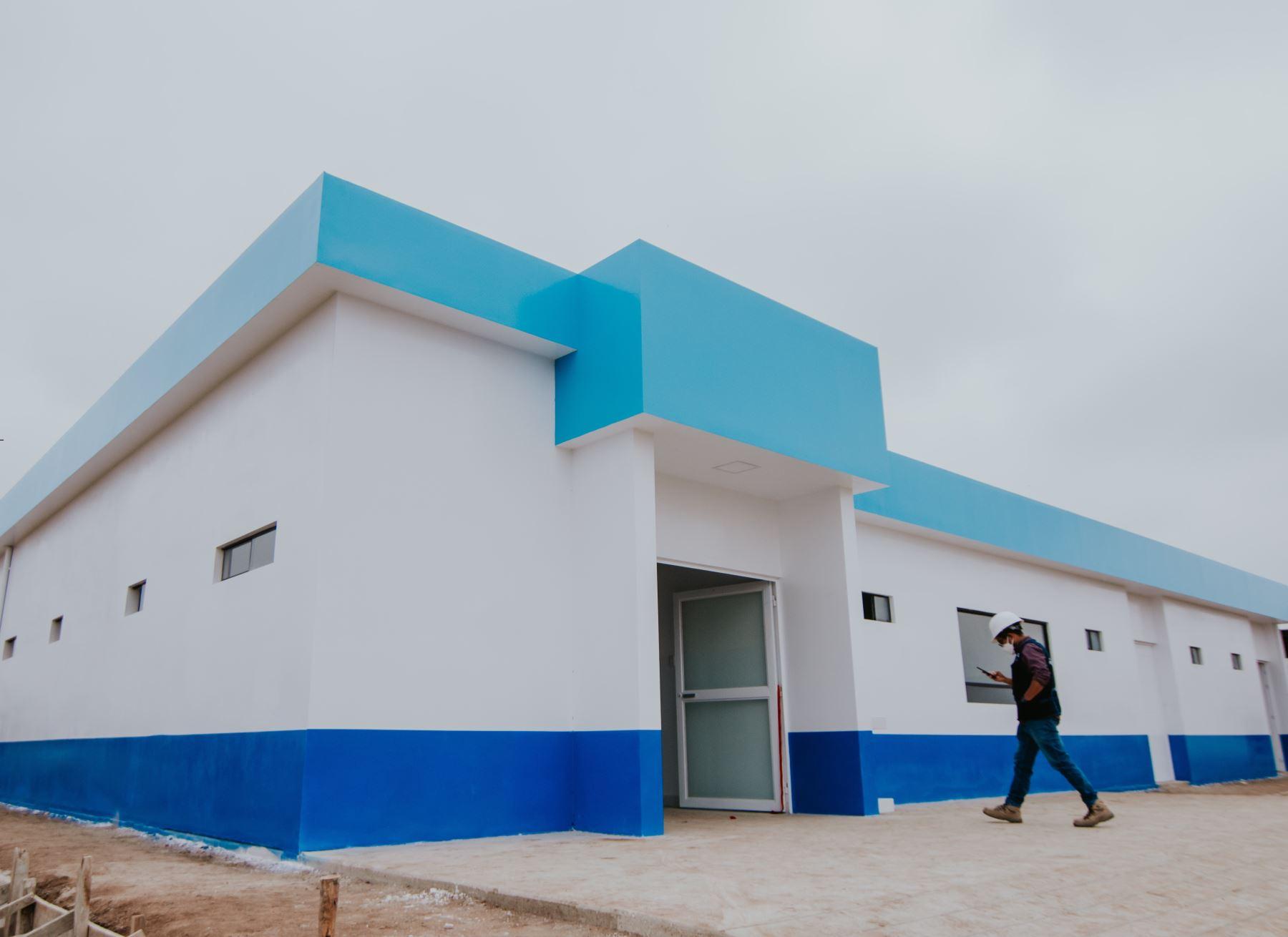 Empresarios agroindustriales de Virú, región La Libertad, implementaron un hospital temporal covid-19 en dicha provincia y lo entregaron a las autoridades de salud para la atención de pacientes afectados por el coronavirus. ANDINA/Difusión