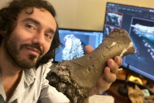 Rodolfo Salas-Gismondi, paleontologist and researcher of the BioGeoSciences Lab of the Lima-based Cayetano Heredia University. Photo: ANDINA/Rodolfo Salas-Gismondi