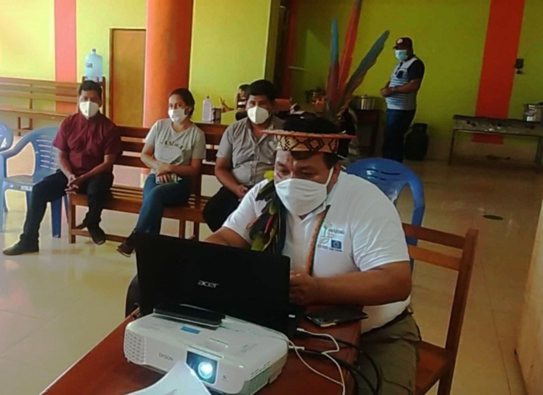 El Serfor, la cooperación alemana GIZ y la ONG DAR, unieron esfuerzos para prevenir contagios de coronavirus en comunidades indígenas de la provincia de Atalaya, en Ucayali. ANDINA/Difusión
