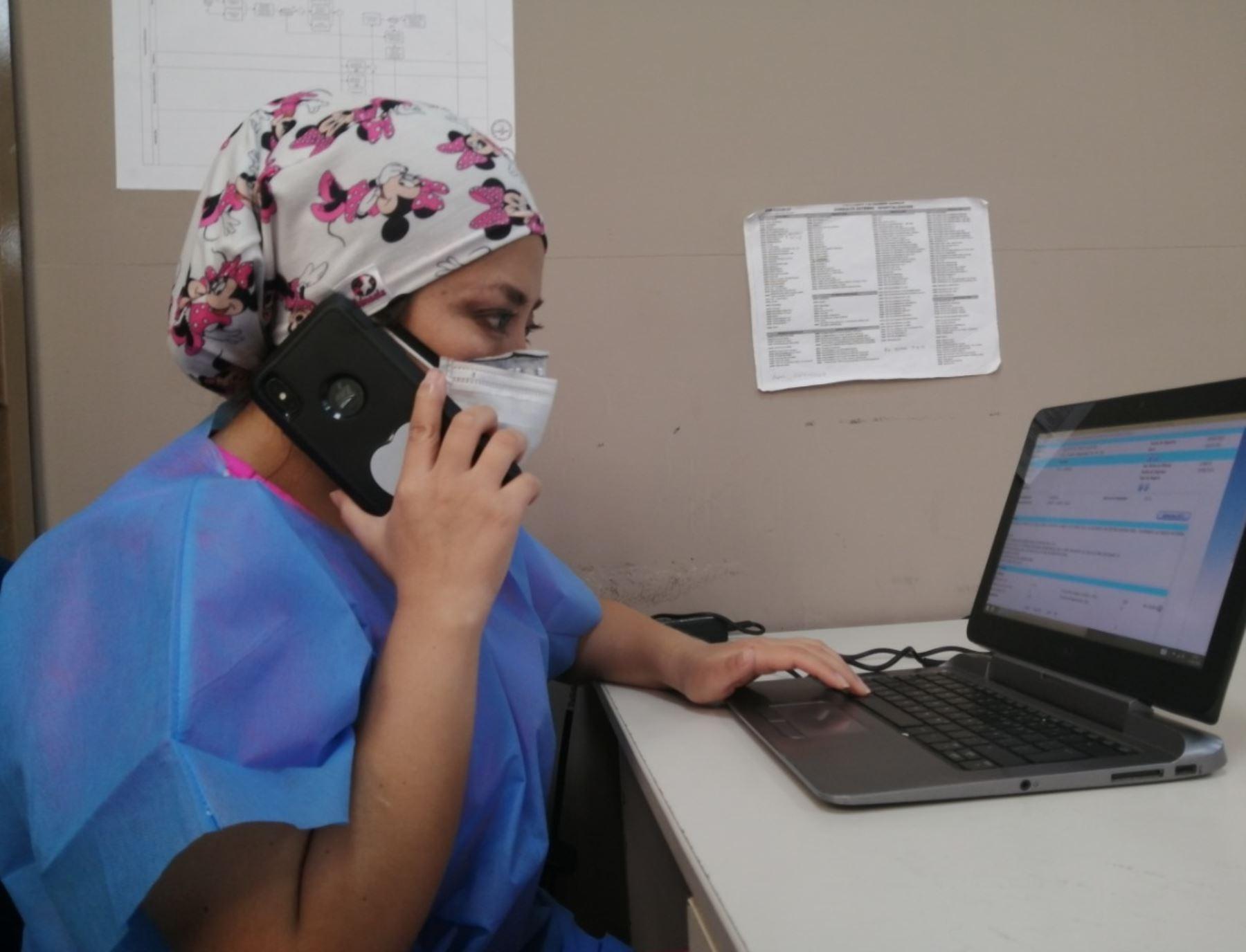 El hospital Alberto Sabogal Sologuren del Seguro Social de Salud (EsSalud) implementó el servicio de teleconsulta médica. Foto: Hospital Sabogal