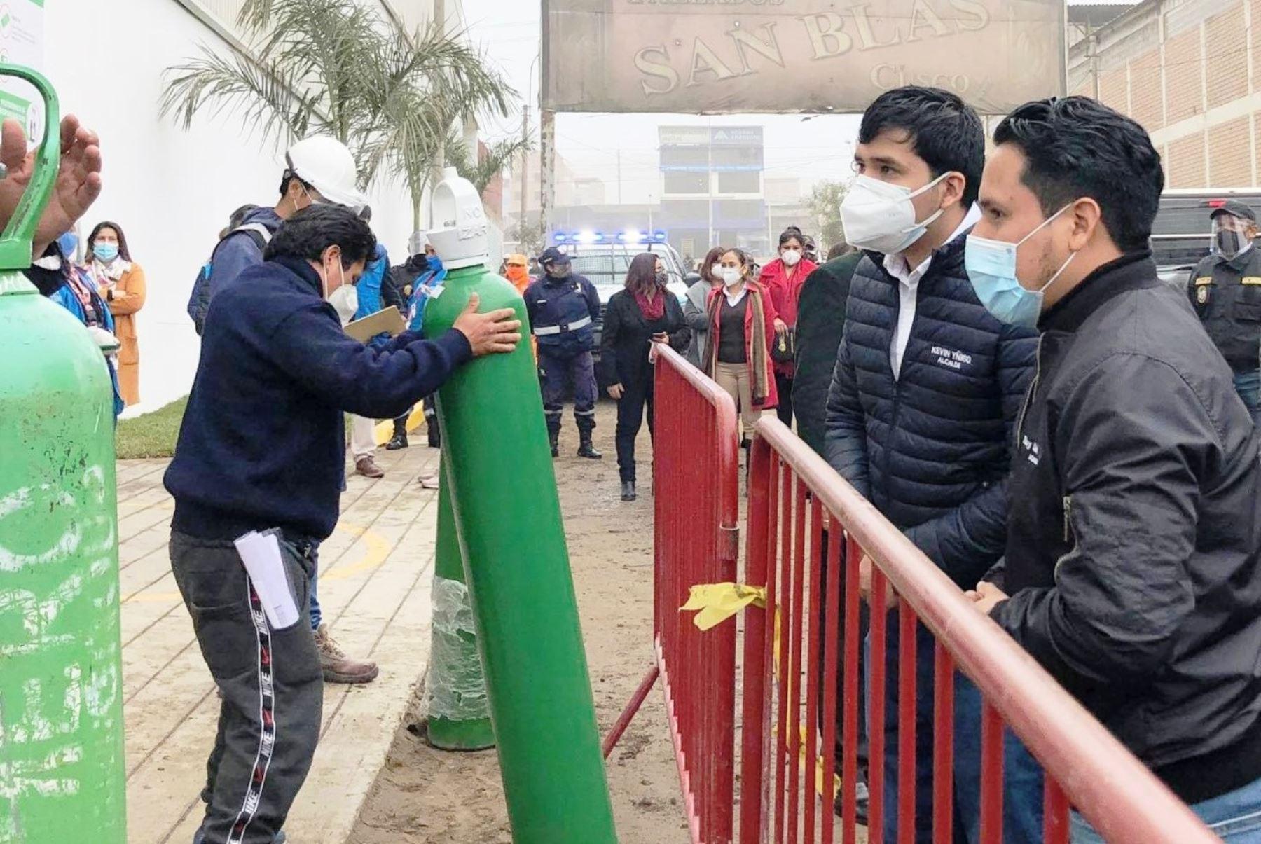 Desde hoy ofrecen oxígeno gratis en Villa El Salvador para pacientes covid-19. Foto: ANDINA/difusión.