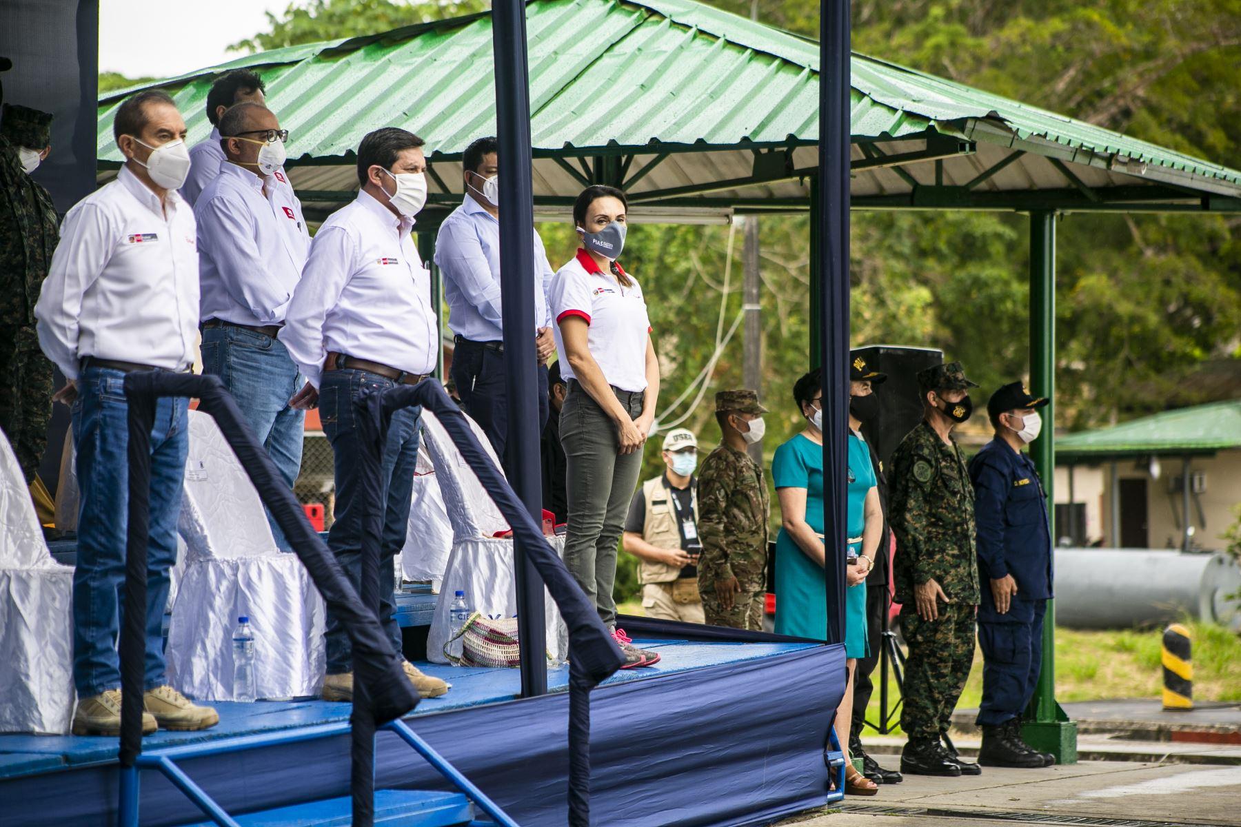 El presidente del Consejo de Ministros Walter Martos presidió, la ceremonia de zarpe de la campaña PIAS del  Midis en Iquitos, que llevará atención a poblaciones de comunidades nativas en el marco de las acciones de prevención y mitigación del covid-19. Foto:ANDINA/PCM