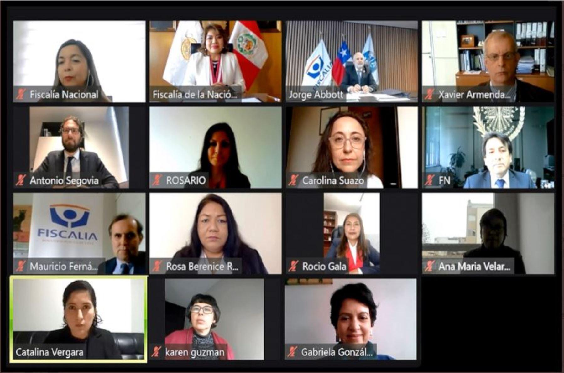 Fiscal de la Nación, Zoraida Ávalos, firma acuerdo con Chile para crear equipo conjunto de investigación.