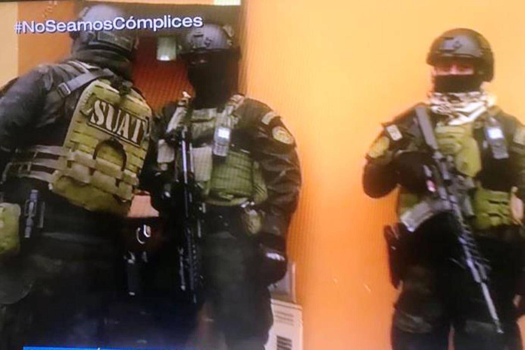 Policía interviene 20 propiedades de la organización criminal los Babys de Oquendo. Foto: ANDINA.