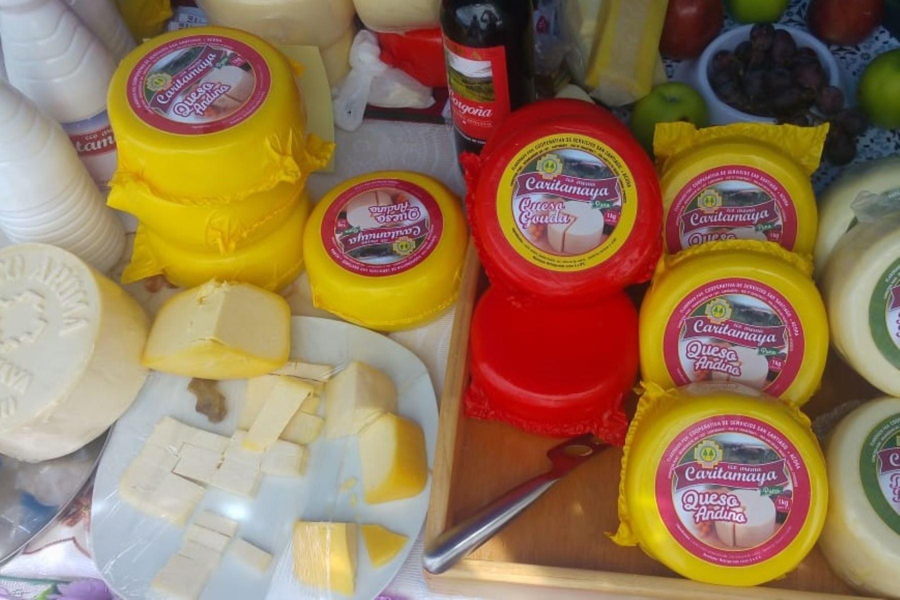 Quesos de producción peruana. Foto: Cortesía.