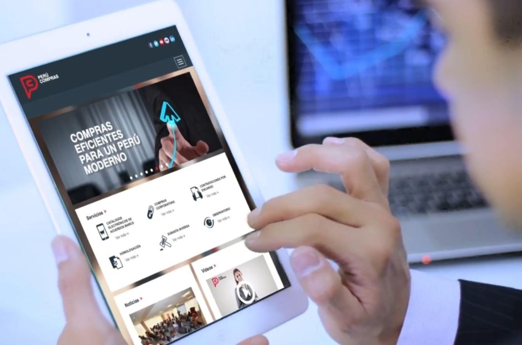 Plataforma virtual de Perú Compras. Cortesía
