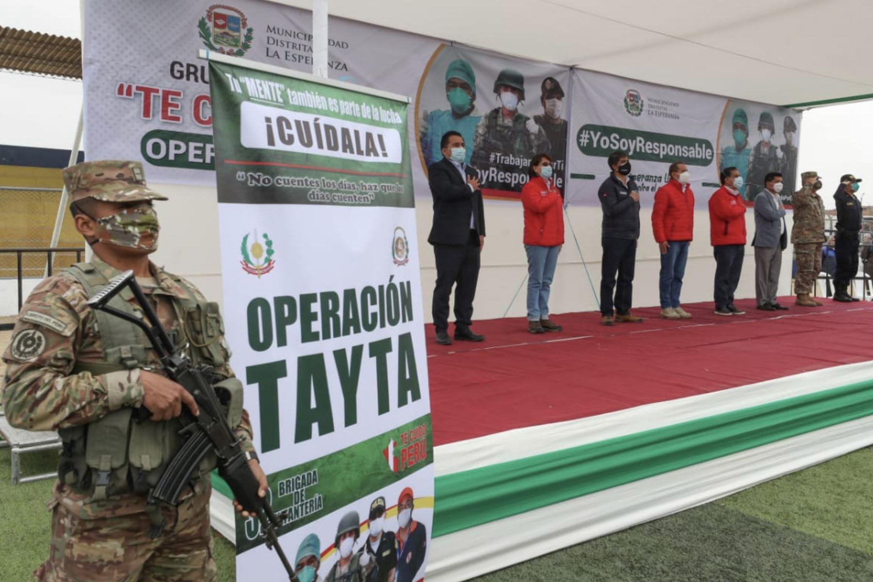 Jefe del Gabinete Ministerial supervisa desarrollo de Operación Tayta en La Libertad.