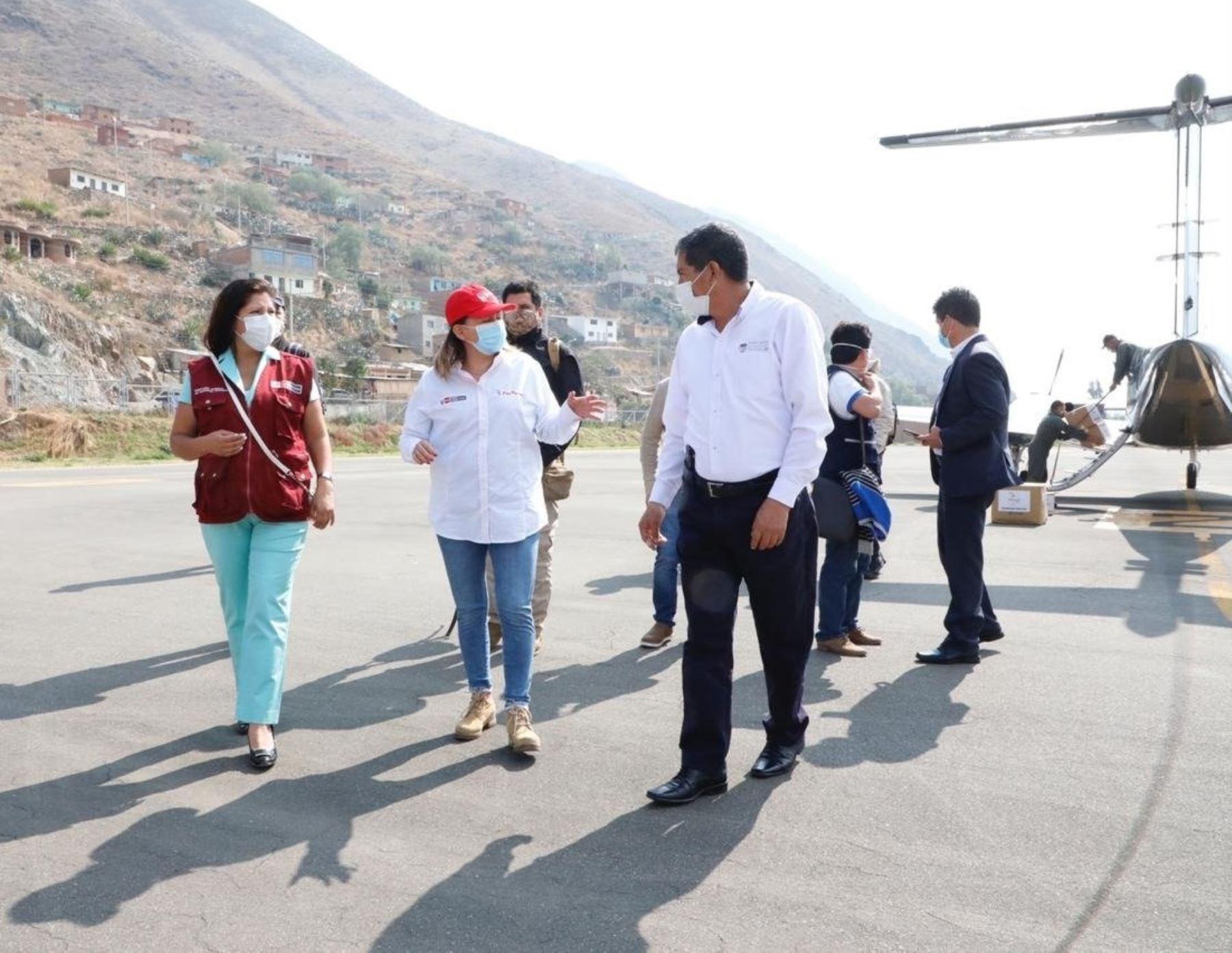 Titular del Mincetur, Rocío Barrios, visita Huánuco para impulsar acciones de salud frente al coronavirus covid-19. Foto: ANDINA/difusión.