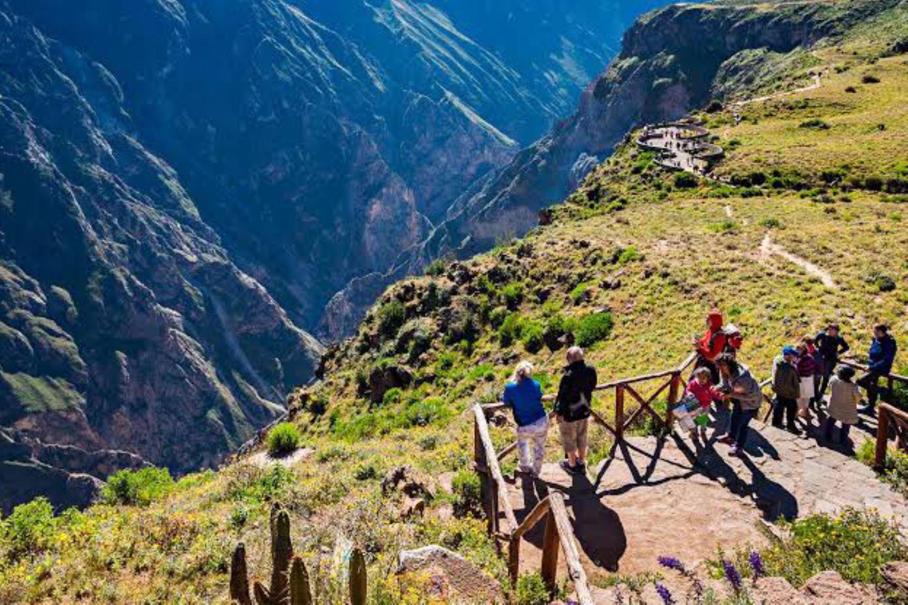 El valle del Colca recibió el año pasado más de 250,000 turistas y en el 2020, hasta el 15 de marzo, ingresaron 41,535. Foto: ANDINA/Difusión