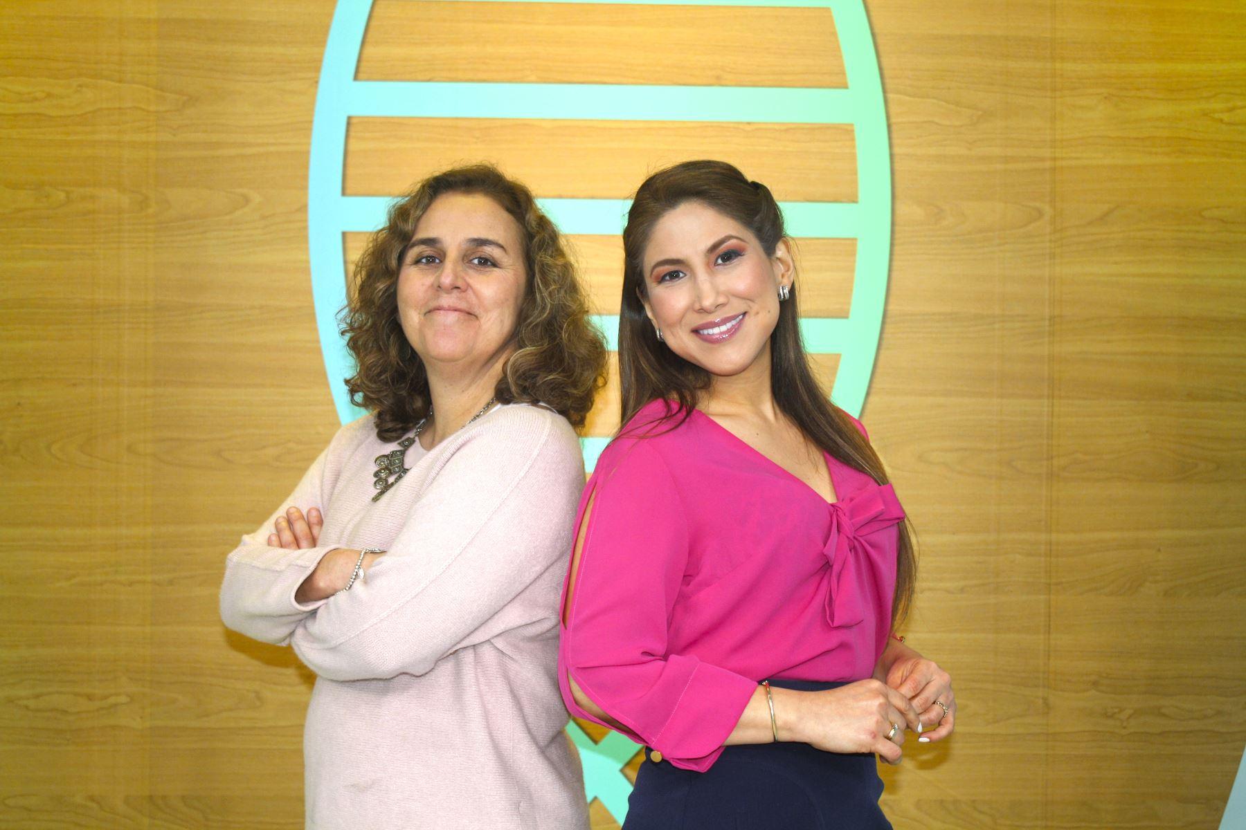 """Patricia García y Jennifer Cerecida juntas en el espacio """"Cuerpo Médico""""."""