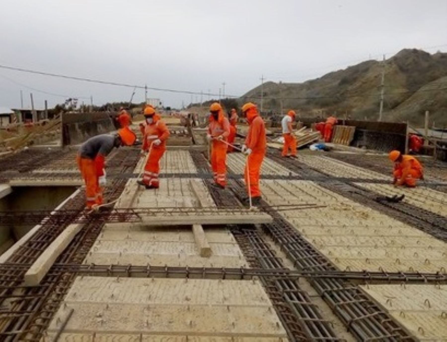 El MTC reinició los trabajos de construcción de cuatro puentes definitivos en Tumbes que se encontraban suspendidos por la emergencia sanitaria decretada para frenar el avance del coronavirus (covid-19). ANDINA/Difusión