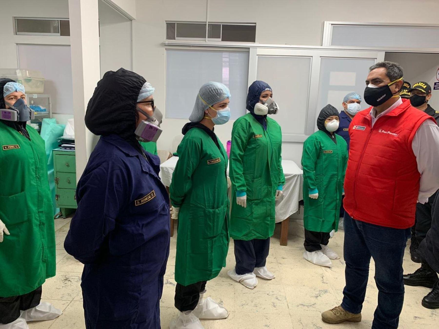 El ministro del Interior, Jorge Montoya, supervisó la puesta en funcionamiento del nuevo servicio de emergencia en Hospital de Policía de Chiclayo. ANDINA/Difusión