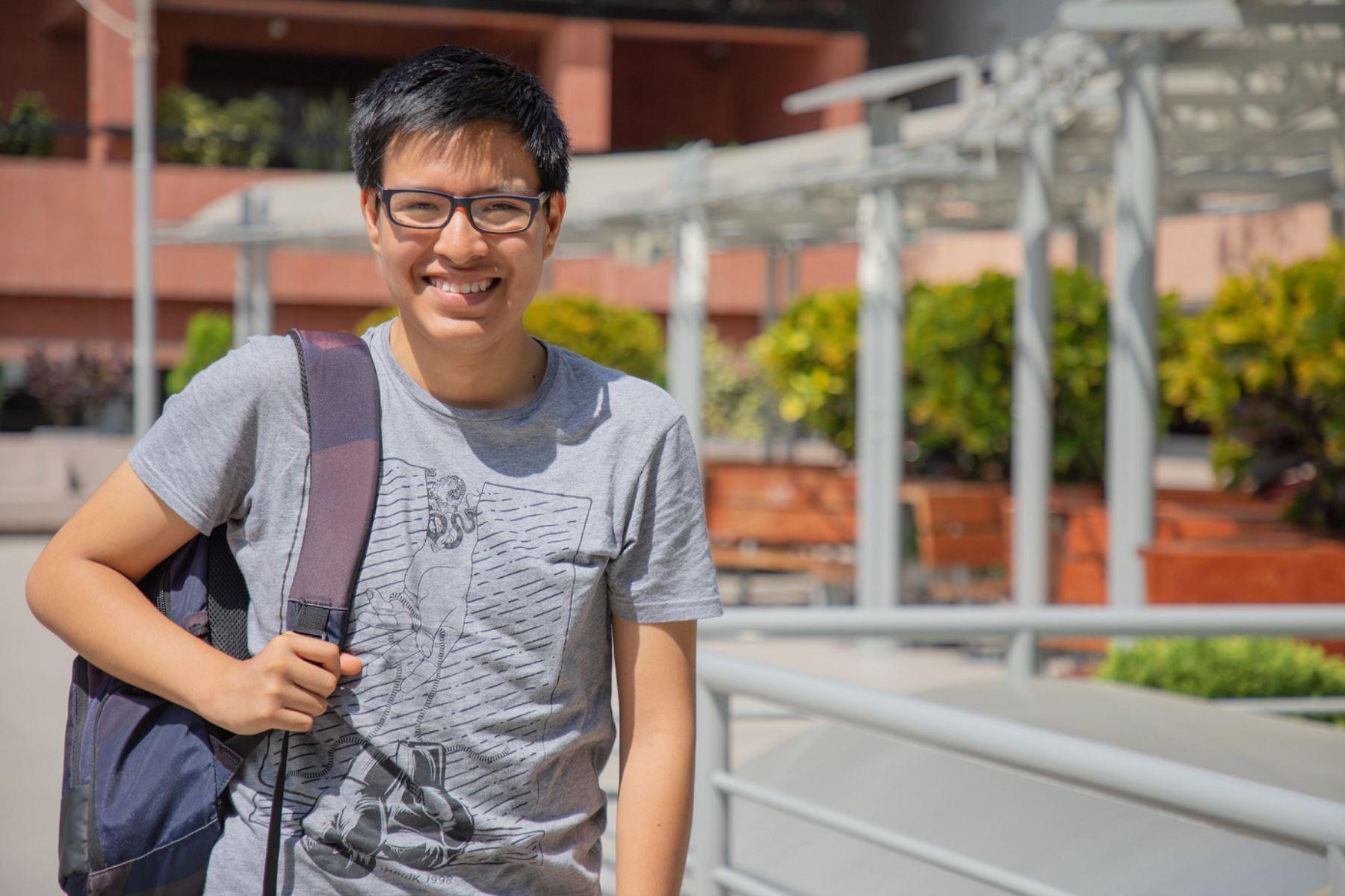 Dick De la Cruz, talento de Beca 18, estudiante de la carrera de Economía de la Universidad del Pacífico y primer puesto en el examen de 2019 ANDINA/Difusión