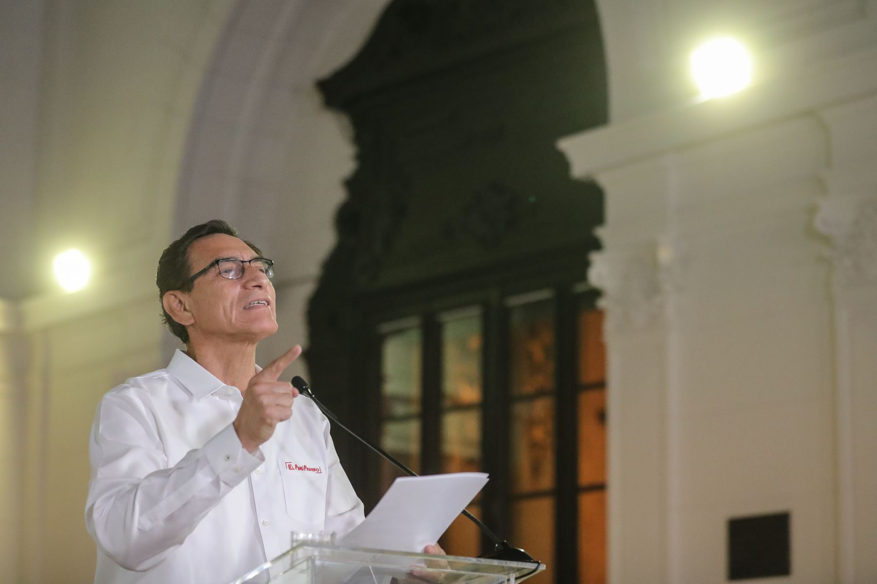 El presidente de la República, Martín Vizcarra brinda Mensaje a la Nación.  Foto: ANDINA/Prensa Presidencia