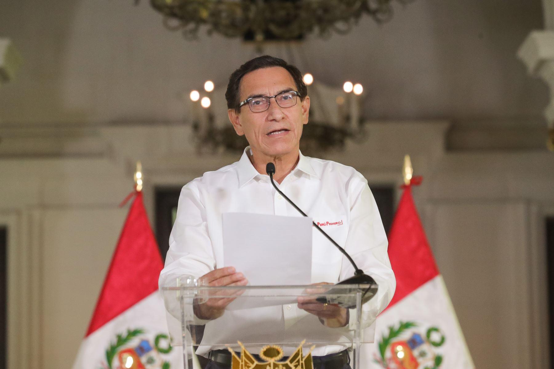 Peruvian President Martin Vizcarra. Photo: ANDINA/Presidency of the Republic.