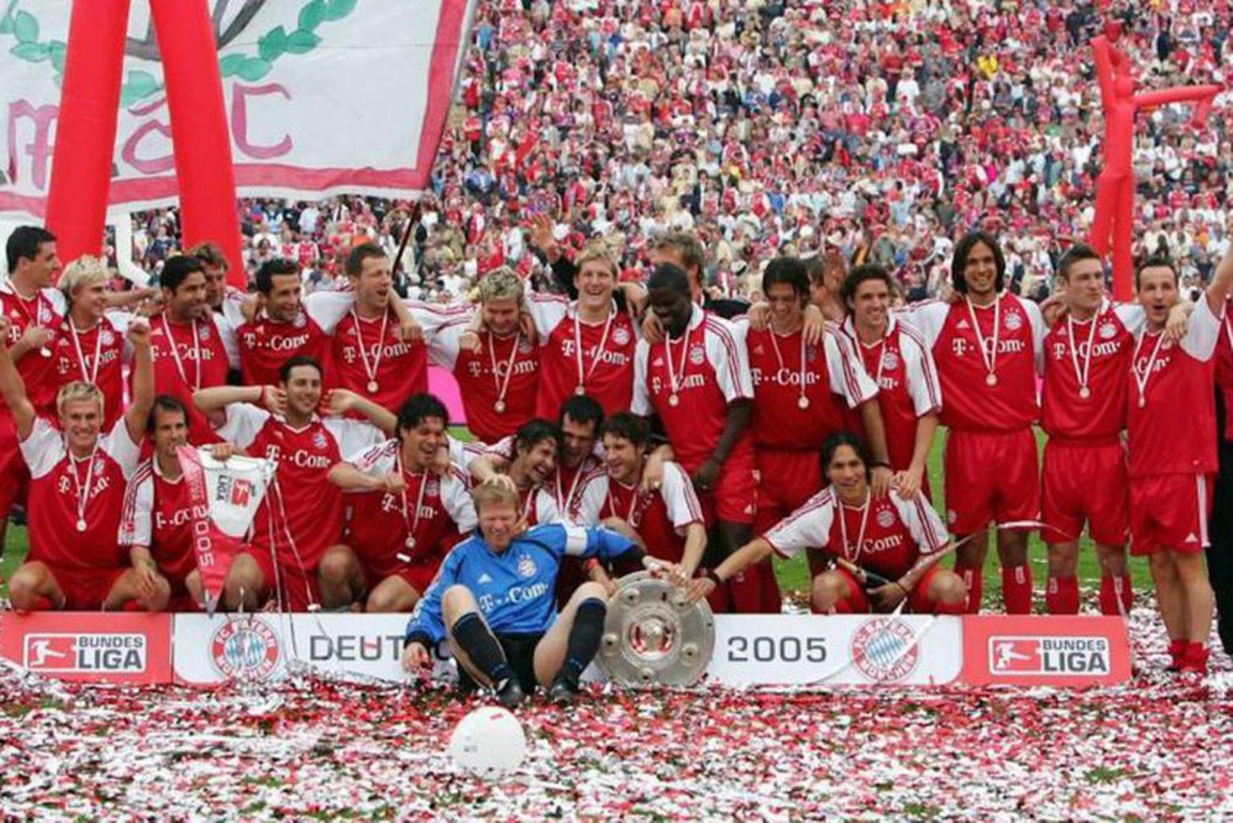 Campeonato alemán 2004/2005. Fuente: FC Bayern Munich