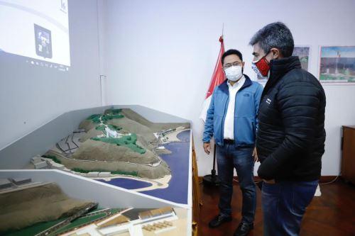 Acompañados de sus equipos técnicos recorrieron el proyecto Morro Solar, el Asentamiento Humano Intillakta y la comunidad Sarhua. ANDINA/Difusión