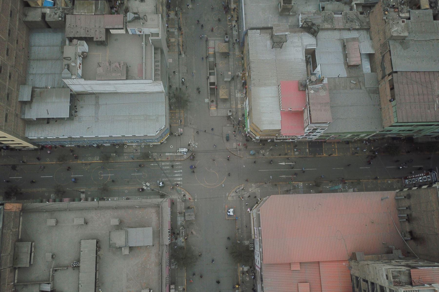 Jr. Humboldt de Gamarra tras el operativo de fiscalización realizado por la Municipalidad de La Victoria con el objetivo de recuperar los espacios públicos. Foto: ANDINA/Daniel Bracamonte