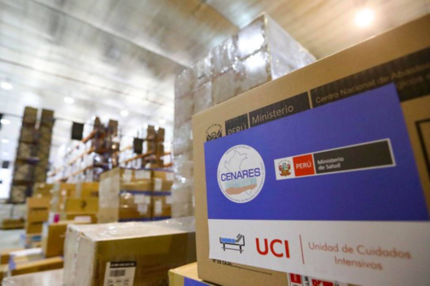 El cargamento, distribuido por el Centro Nacional de Abastecimiento de Recursos Estratégicos, incluyó 620,721 suministros médicos valorizados en S/ 3