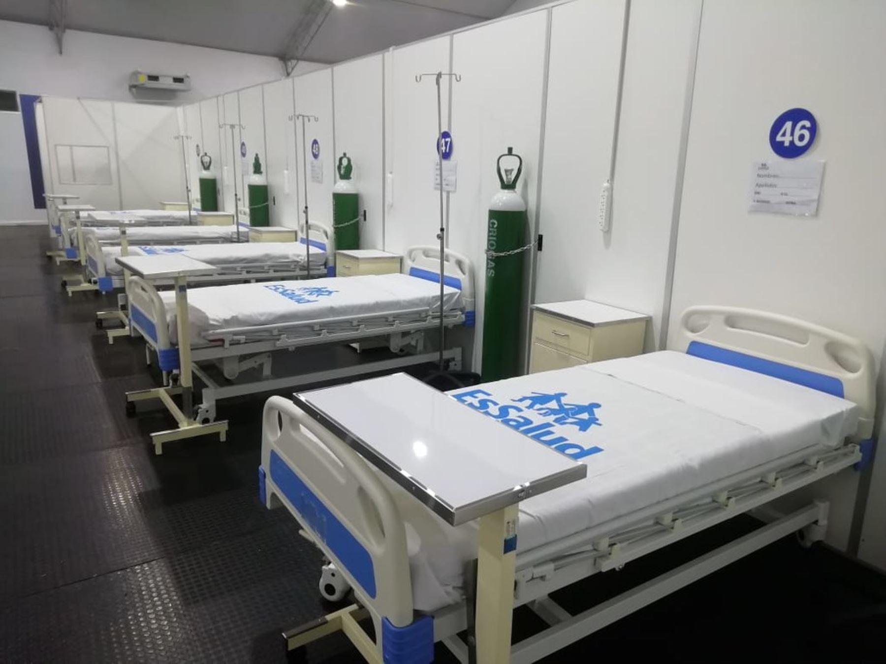 Ambientes del nuevo centro de atención para pacientes covid-19, en  Villa Essalud Apurímac. Foto:ANDINA/Essalud