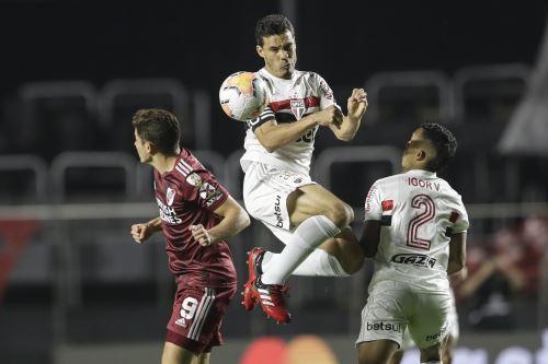 River Plate iguala 2 a 2 ante  Sao Paulo FC por la Copa Libertadores en el estadio Morumbi de Brasil