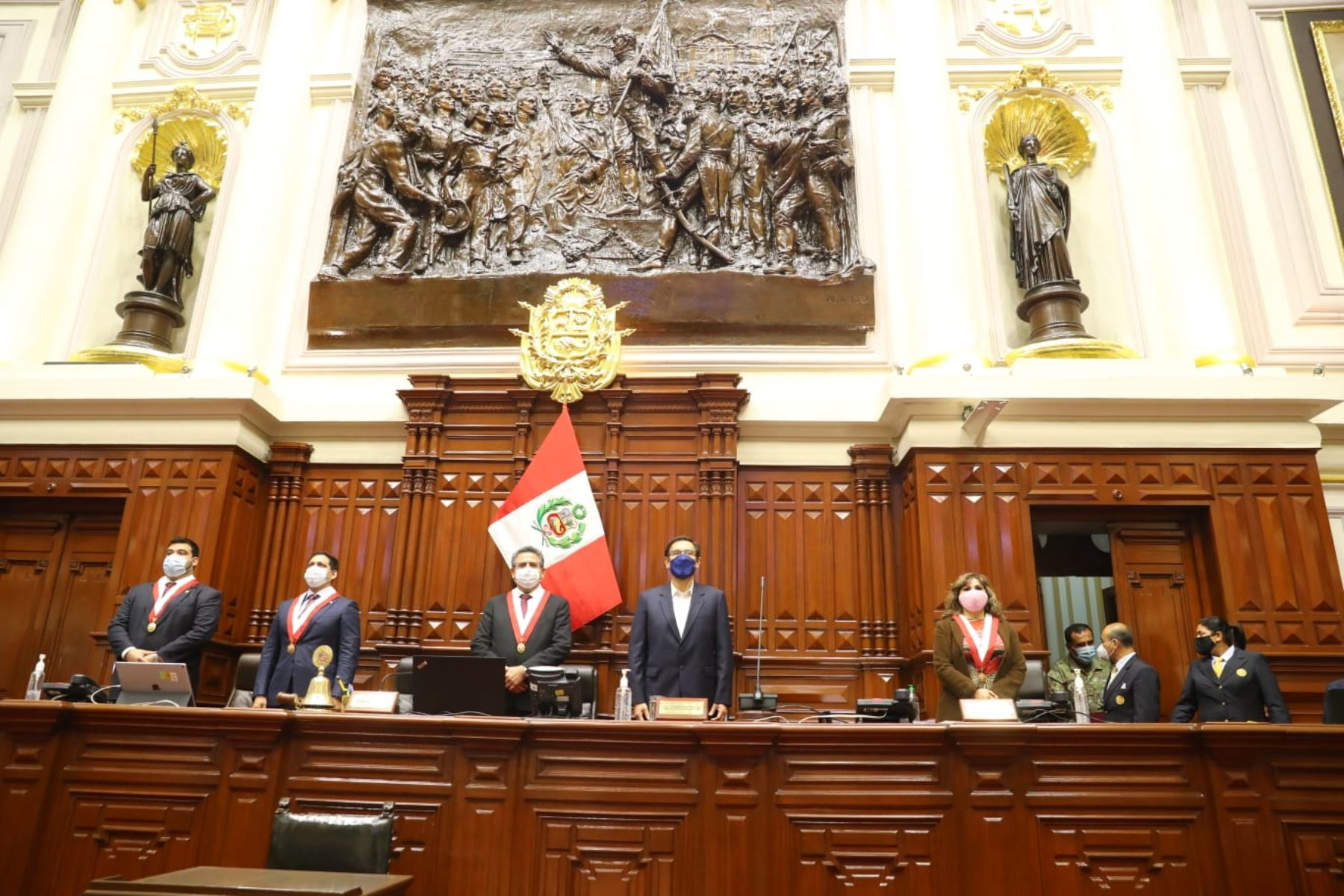 Peruvian President Martin Vizcarra attends a Parliament plenary session. Photo: ANDINA/Presidency of the Republic.