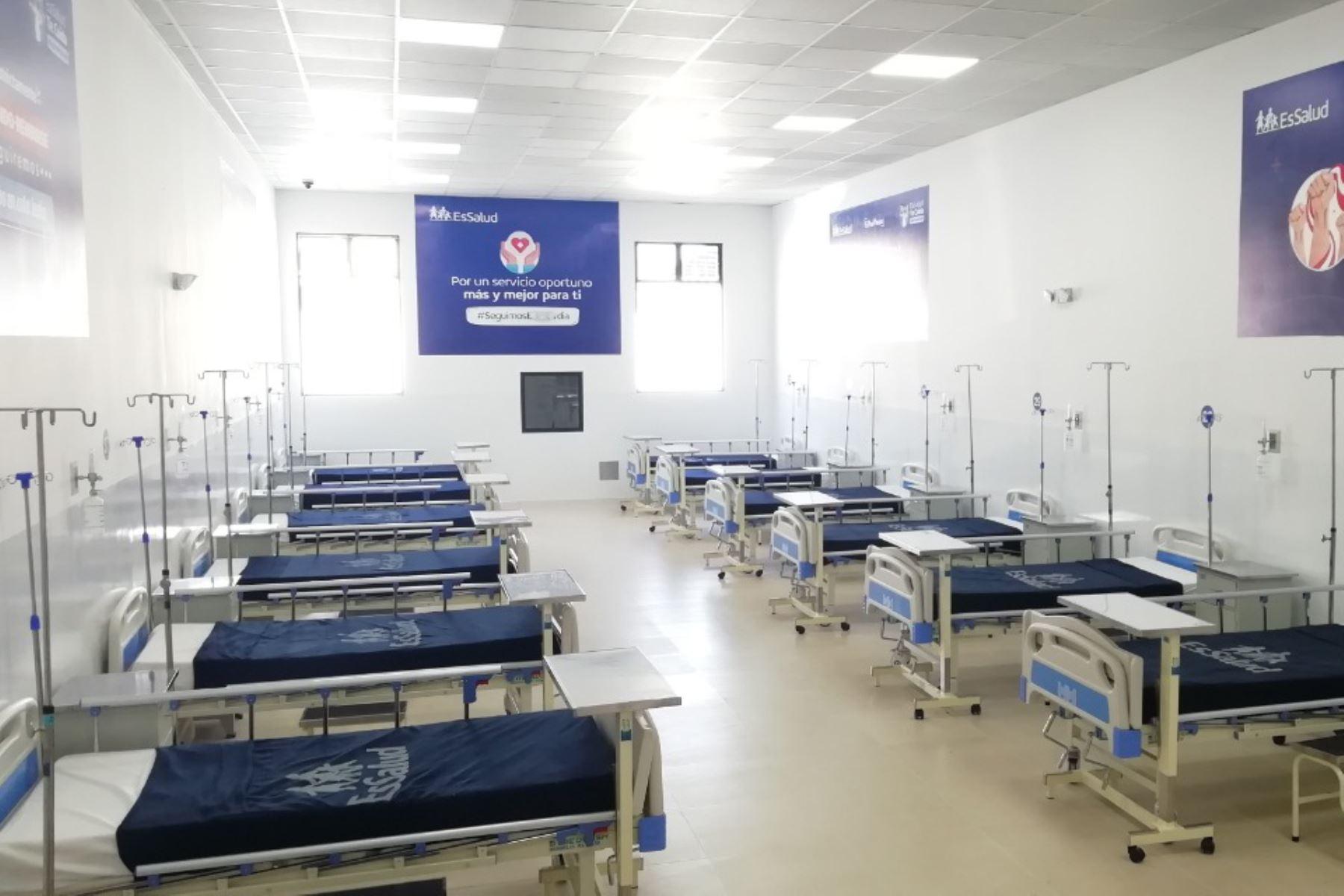 Villa EsSalud Virú, establecimiento para brindar atención a pacientes con coronavirus en la región La Libertad. Foto: ANDINA/ Prensa Presidencia