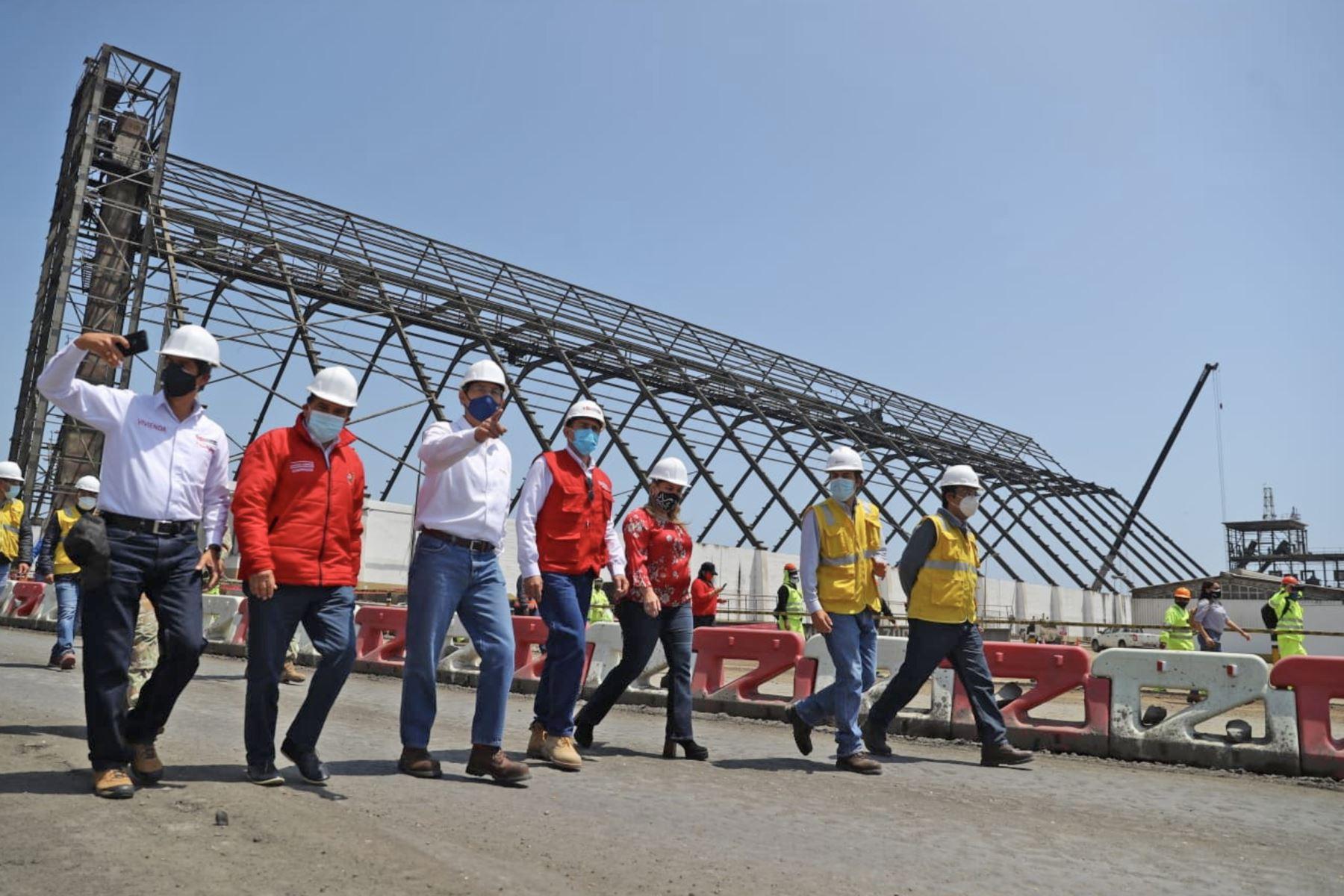 La modernización del Terminal Portuario multipropósito de Salaverry, permitirá un aumento en la comercialización de productos como la harina de pescado, trigo, entre otros. Foto: ANDINA/Prensa Presidencia