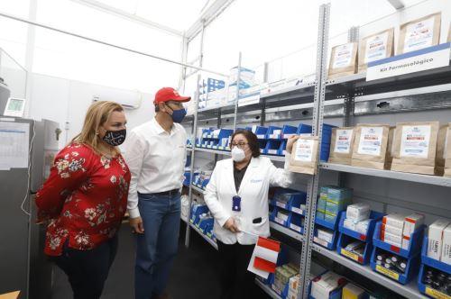 El presidente Martin Vizcarra, inspecciona Villa EsSalud La Libertad
