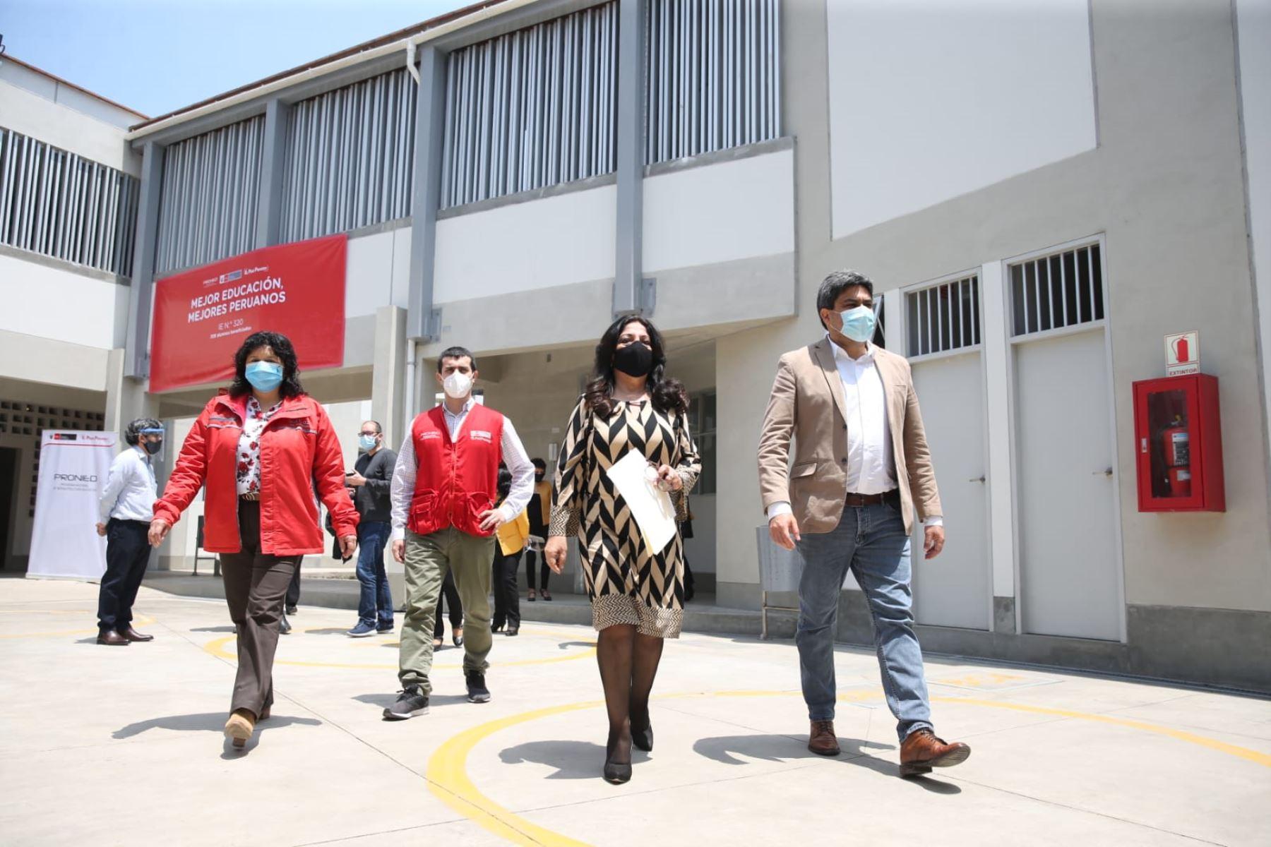 Ministerio de Educación inaugura nuevo local de colegio en el Rímac   Noticias