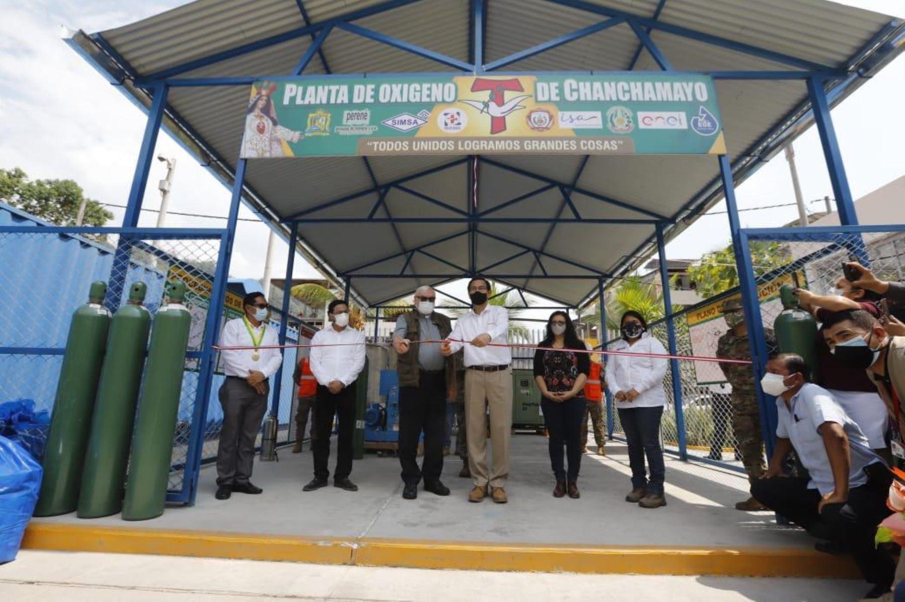 Peruvian President Martin Vizcarra inaugurates oxygen plant in Chanchamayo. Photo: ANDINA/Presidency of the Republic