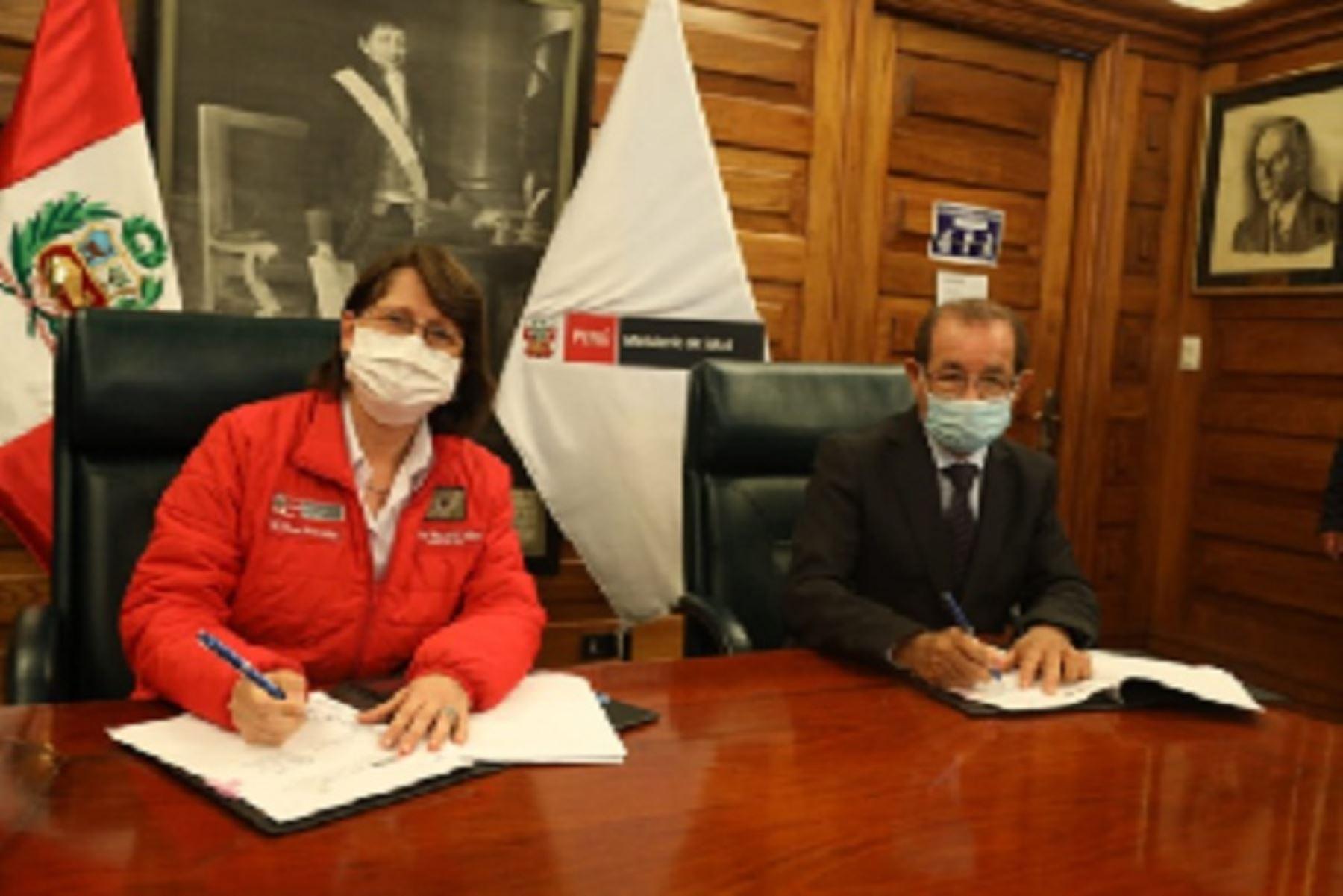 Es uno de los principales acuerdos alcanzados en Lima entre el gobernador regional, Pedro Bogarín Vargas y la ministra de Salud, Pilar Mazzeti Soler.