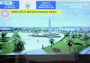 Autoridades de La Libertad confirman construcción de obelisco por el bicentenario de la independencia de Trujillo. ANDINA/Difusión