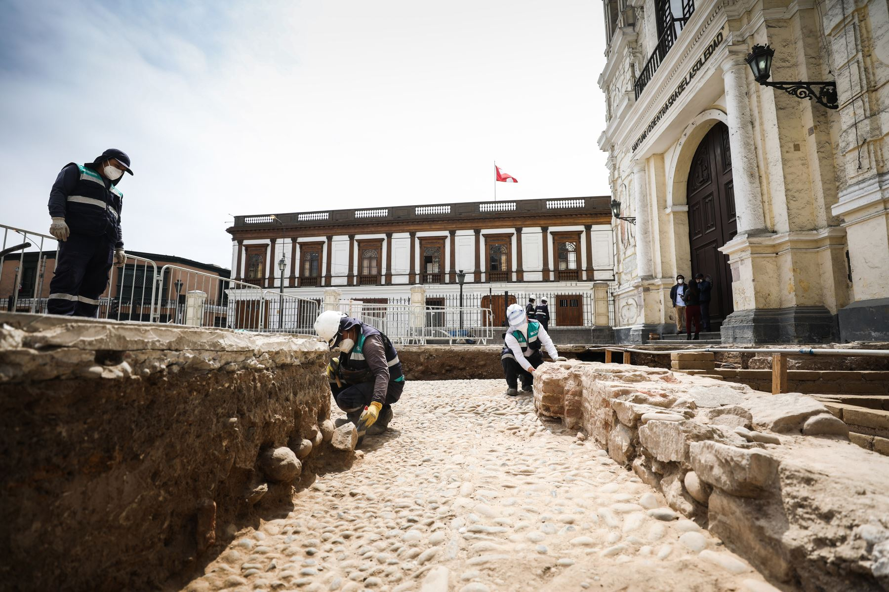 La comuna capitalina precisó que las evidencias encontradas serán incorporadas en el proyecto de recuperación integral del espacio público que se iniciará el año próximo. Foto: ANDINA/Municipalidad de Lima