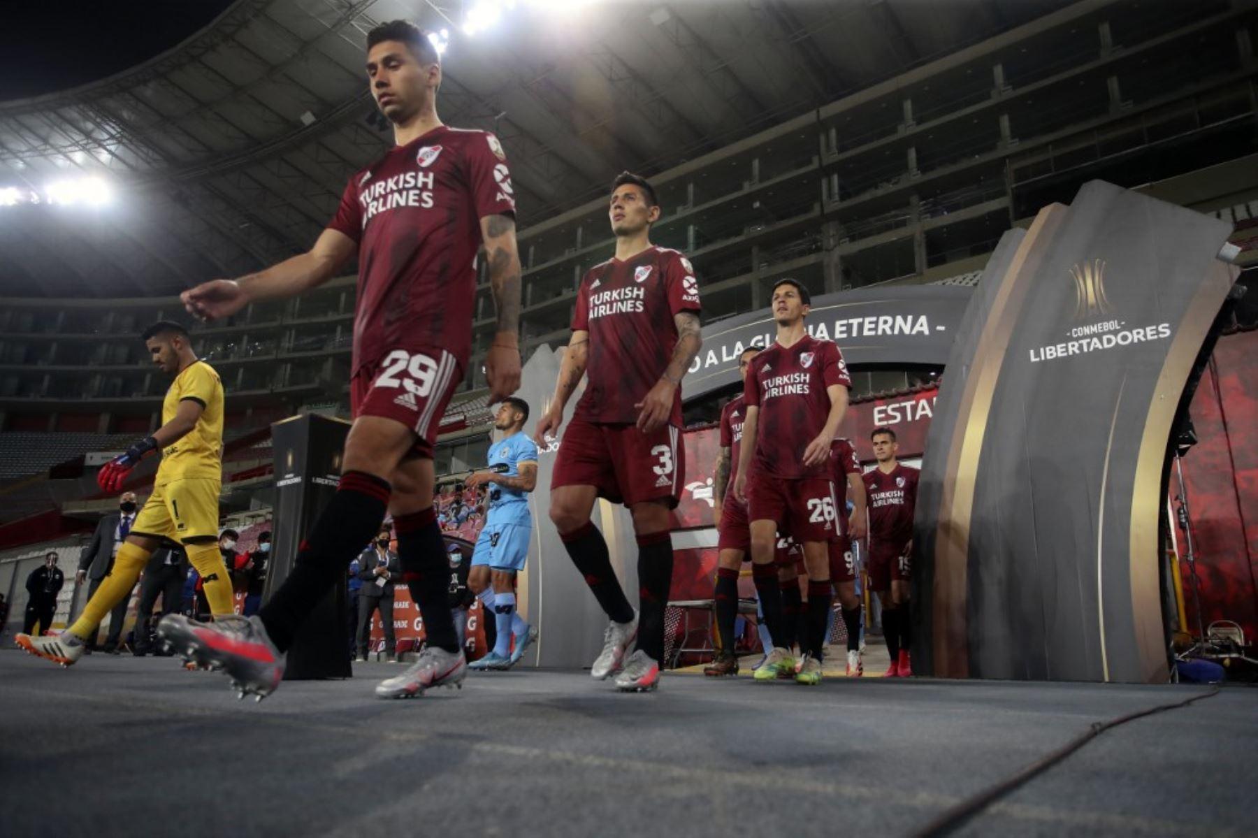 Binacional y River Plate se enfrentan por el grupo D de la Copa Libertadores en el Estadio Nacional de Lima. Foto: AFP