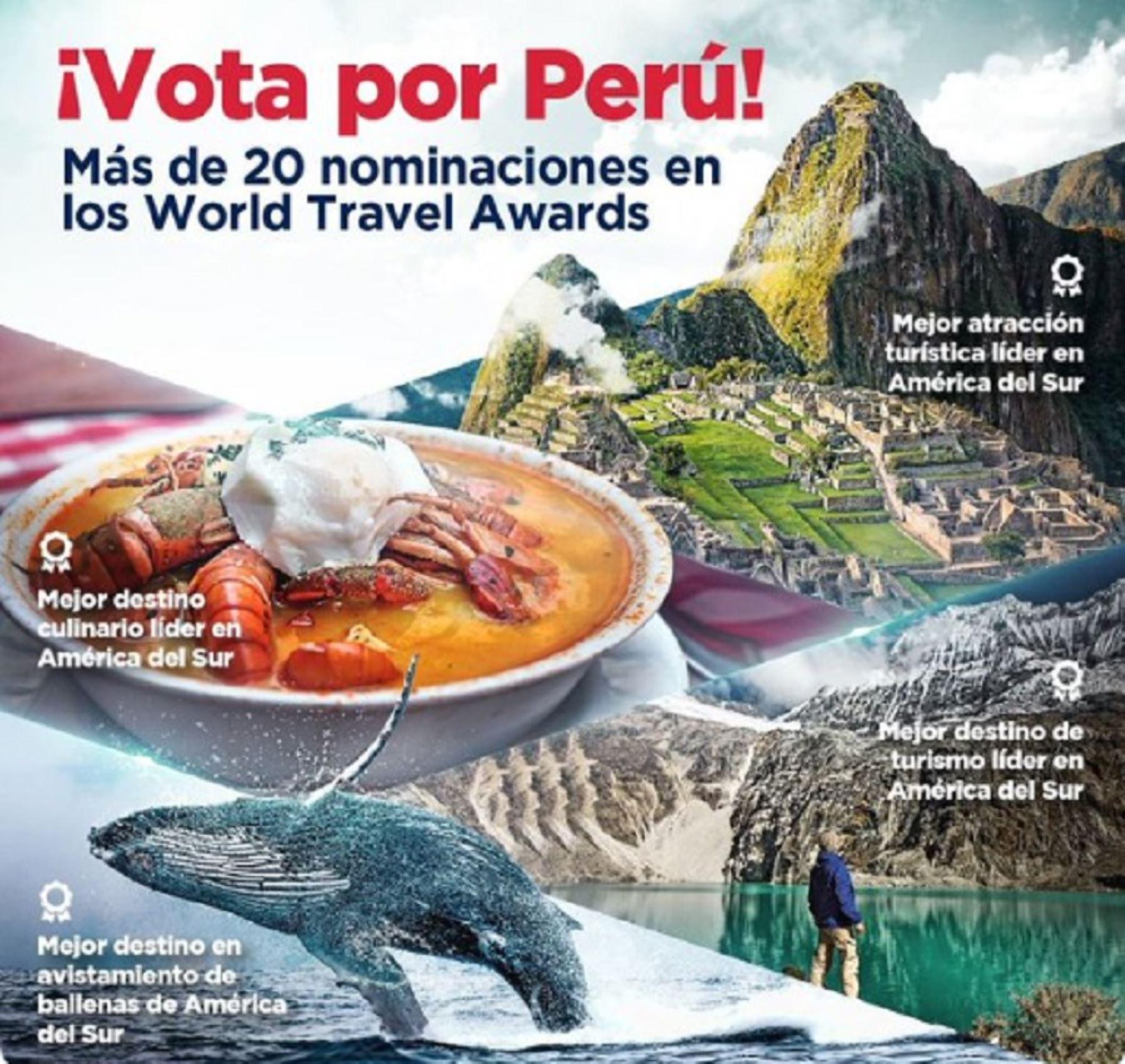 Machu Picchu, el Cañón del Colca, el balneario de Máncora, y las ciudades de Cusco y Lima encabezan las 24 nominaciones con las que el Perú compite en la edición sudamericana de los prestigiosos premios World Travel Awards 2020. Foto: Promperú