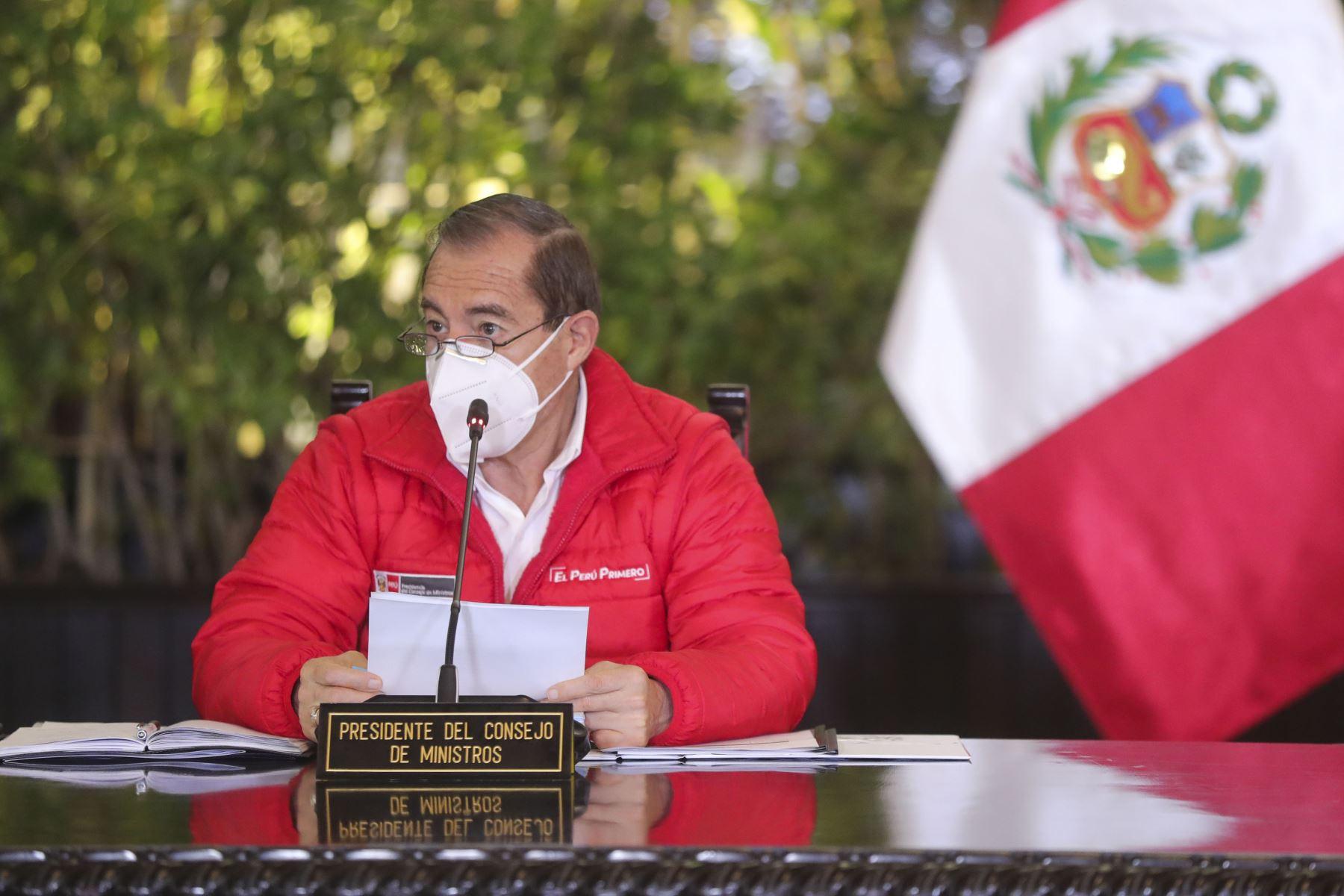 Ministro Walter Martos, presidente de Consejo de Ministros, instalan la Comisión de Alto Nivel de Cambio Climático. Foto: ANDINA/Prensa Presidencia