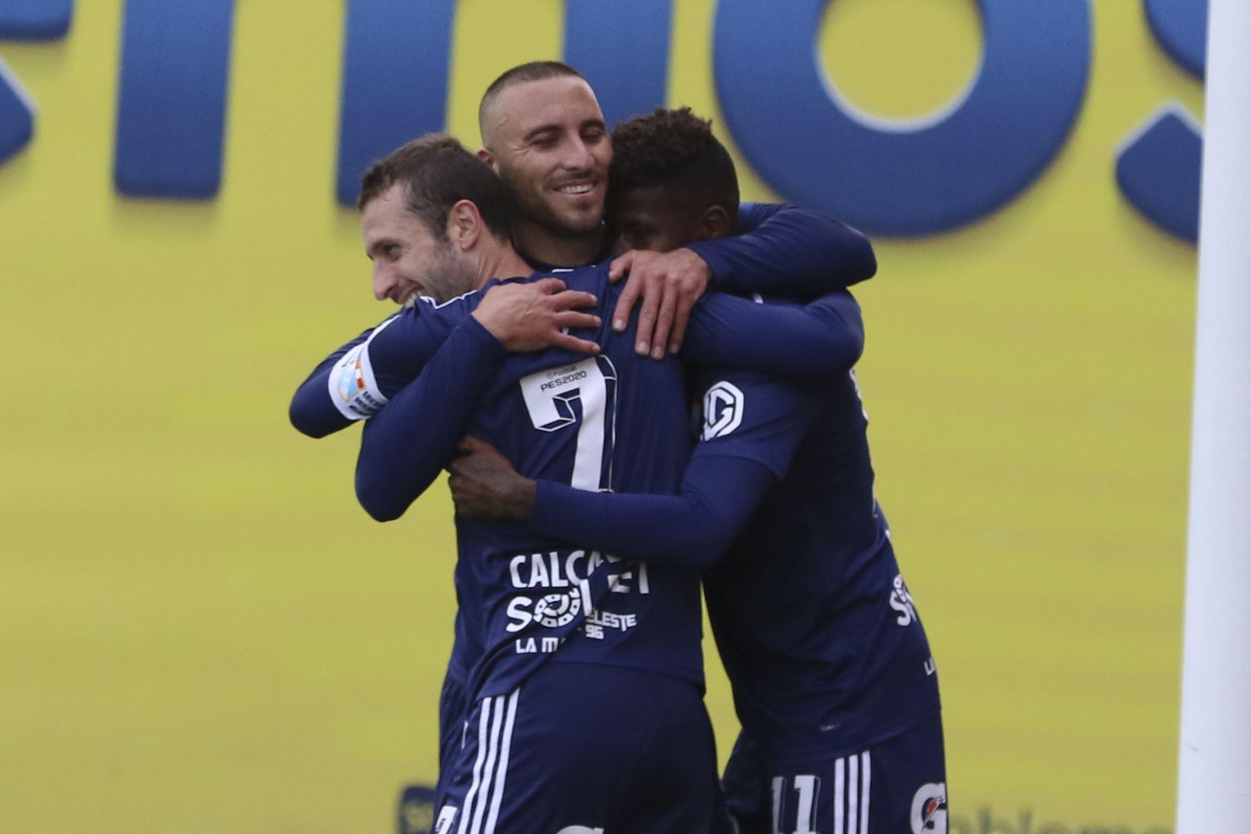 Sporting Cristal goleó 4-1 a Dep. LLacuabamba con doblete del argentino Manuel Herrera. Foto: Liga 1